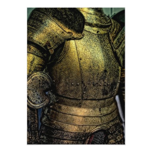 Armor of Medieval Knight 5x7 Paper Invitation Card