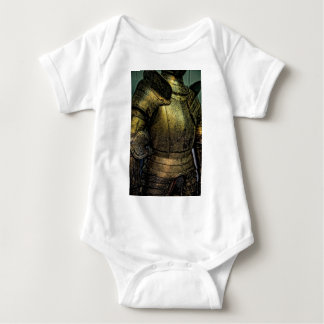 Armor of Medieval Knight Baby Bodysuit
