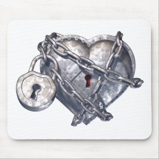 Armored Heart Mouse Pad