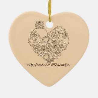 Armored Hearts Steampunk Ornament or Pendant
