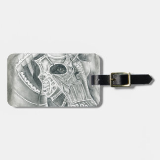 Armored Horse Drawing Luggage Tag