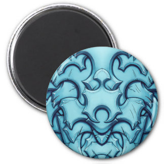 Armored (ice) 2 inch round magnet