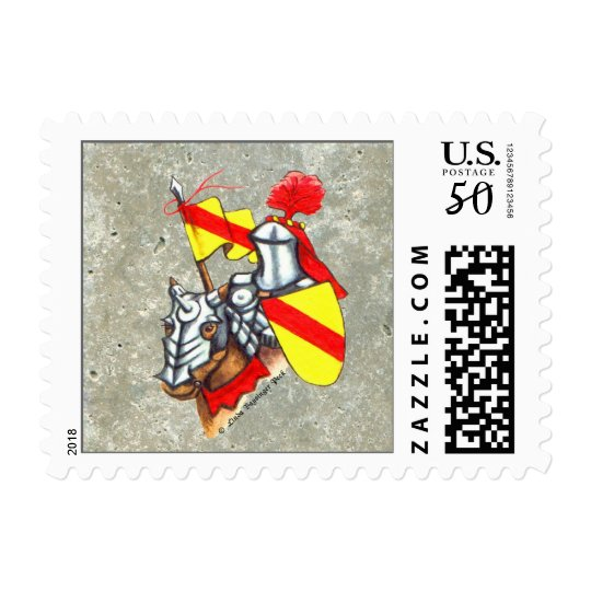 Armored Knight Art Postage