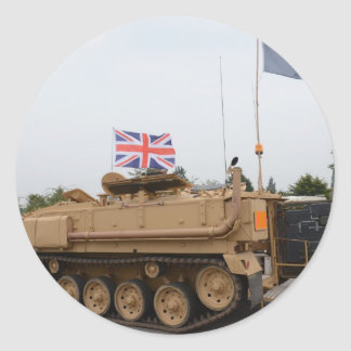 Armored Personnel Carrier Classic Round Sticker