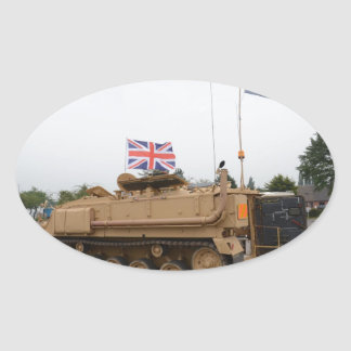 Armored Personnel Carrier Oval Sticker