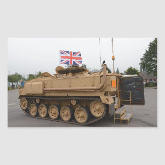 Armored Personnel Carrier Rectangular Sticker