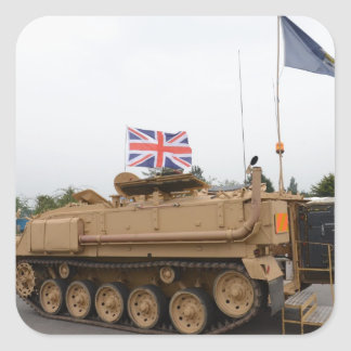 Armored Personnel Carrier Square Sticker