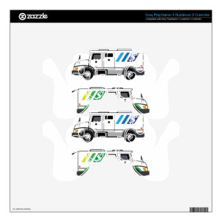 Armored security Vehicle Decal For PS3 Controller