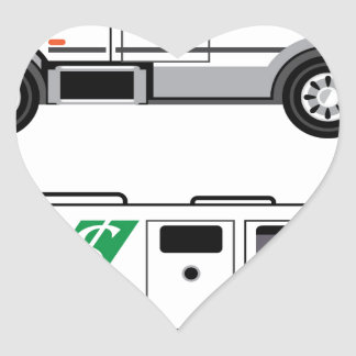 Armored security Vehicle Heart Sticker