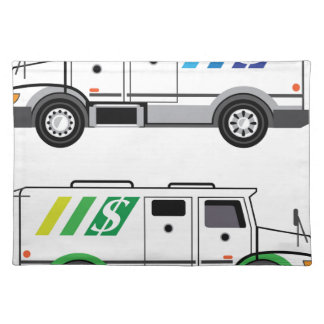 Armored security Vehicle Placemat