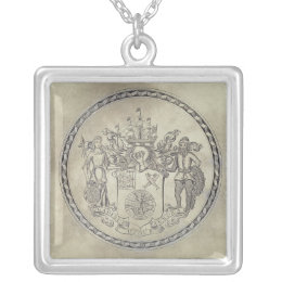 Armorials of the South Sea Company Silver Plated Necklace
