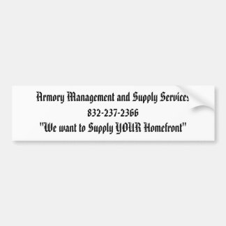 Armory Management and Supply Services832-237-23... Bumper Stickers