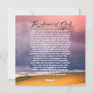 Armour of God, Ephesians 6 Card