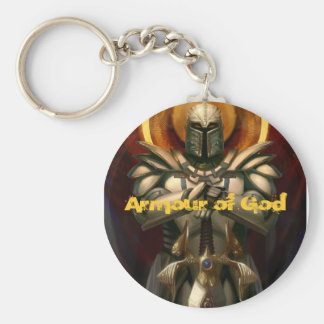 Armour of God Basic Round Button Keychain