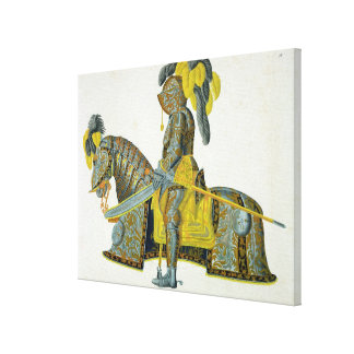 Armour worn by Electorate Christian I, plate from Canvas Print