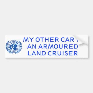 Armoured Land Cruiser Bumper Sticker