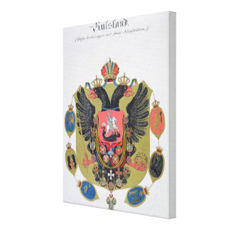 Arms and shield of the state of Imperial Russia f Canvas Print