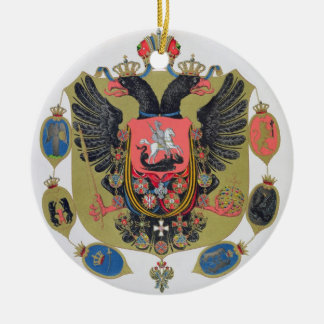 Arms and shield of the state of Imperial Russia, f Ceramic Ornament