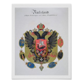Arms and shield of the state of Imperial Russia f Posters
