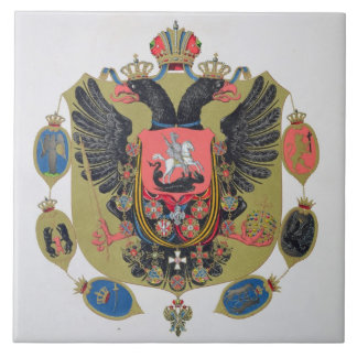 Arms and shield of the state of Imperial Russia, f Tile