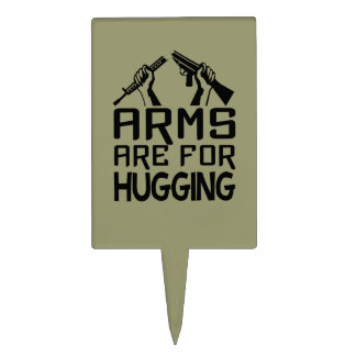 Arms Are For Hugging custom cake toppers