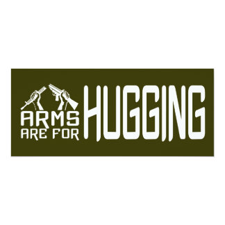 Arms Are For Hugging custom invitation