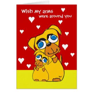Arms Around You Doggie Valentine's Card