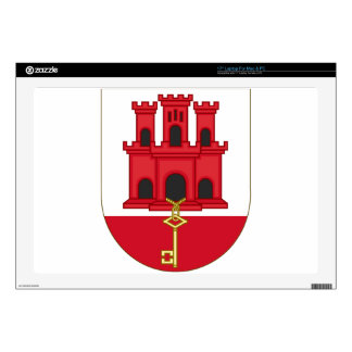 "Arms_of_Gibraltar_(Variant) 17"" Laptop Skins"