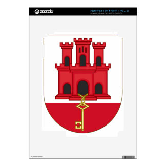 Arms_of_Gibraltar_(Variant) iPad 3 Decals