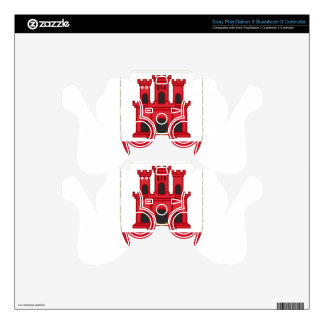 Arms_of_Gibraltar_(Variant) Skin For PS3 Controller