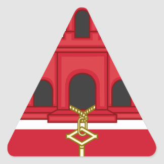 Arms_of_Gibraltar_(Variant) Triangle Sticker