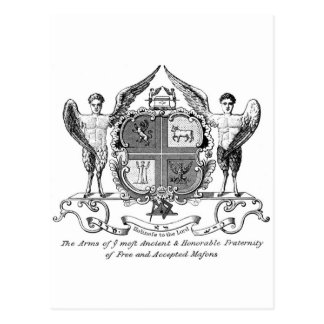 Arms of Grand Lodge of England Postcard