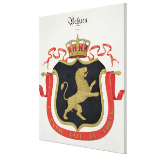Arms of the Belgian Royal Family, from a collectio Canvas Print