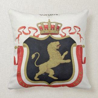 Arms of the Belgian Royal Family from a collectio Pillows