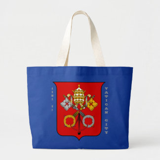 Arms of VATICAN CITY Large Tote Bag