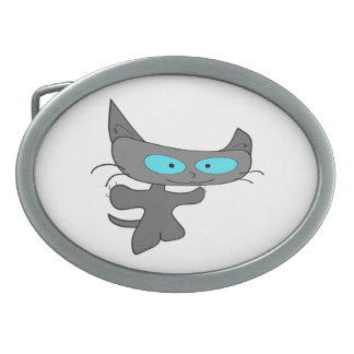 Arms Out Wide Cat Belt Buckle