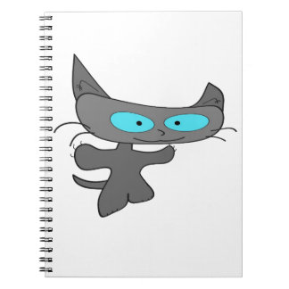 Arms Out Wide Cat Spiral Note Book