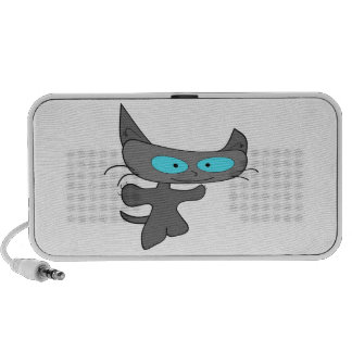 Arms Out Wide Cat Notebook Speakers