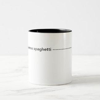 Arms spaghetti Two-Tone coffee mug
