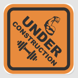 Arms Under Construction Square Sticker