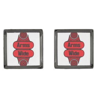 Arms Wide Gunmetal Finish Cufflinks