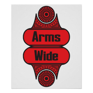 Arms Wide Poster