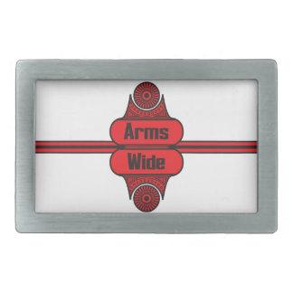 Arms Wide Rectangular Belt Buckle