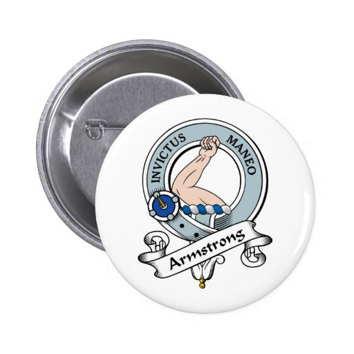 Armstrong Clan Badge 2 Inch Round Button