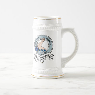 Armstrong Clan Badge 18 Oz Beer Stein