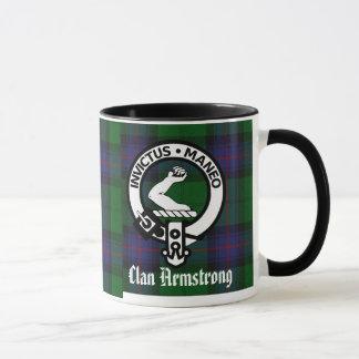 Armstrong Clan Crest Badge & Tartan Mug