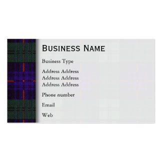 Armstrong clan Plaid Scottish tartan Business Card