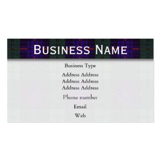 Armstrong clan Plaid Scottish tartan Business Card Templates