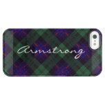 Armstrong clan Plaid Scottish tartan Clear iPhone SE/5/5s Case