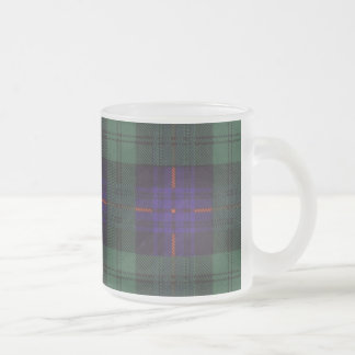 Armstrong clan Plaid Scottish tartan Frosted Glass Coffee Mug